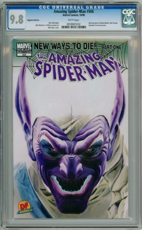 Amazing Spider-man #568 Alex Ross Dynamic Forces Negative Variant CGC 9.8 DF Marvel comic book